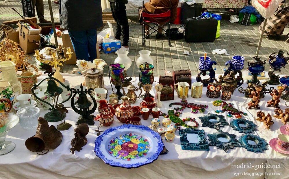 Блошиный рынок Растро в Мадриде