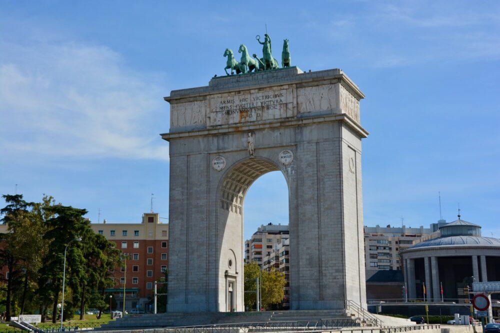 Монументы Мадрида - Арка Победы